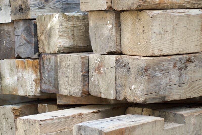 Thick Wooden Beams Stock Photos