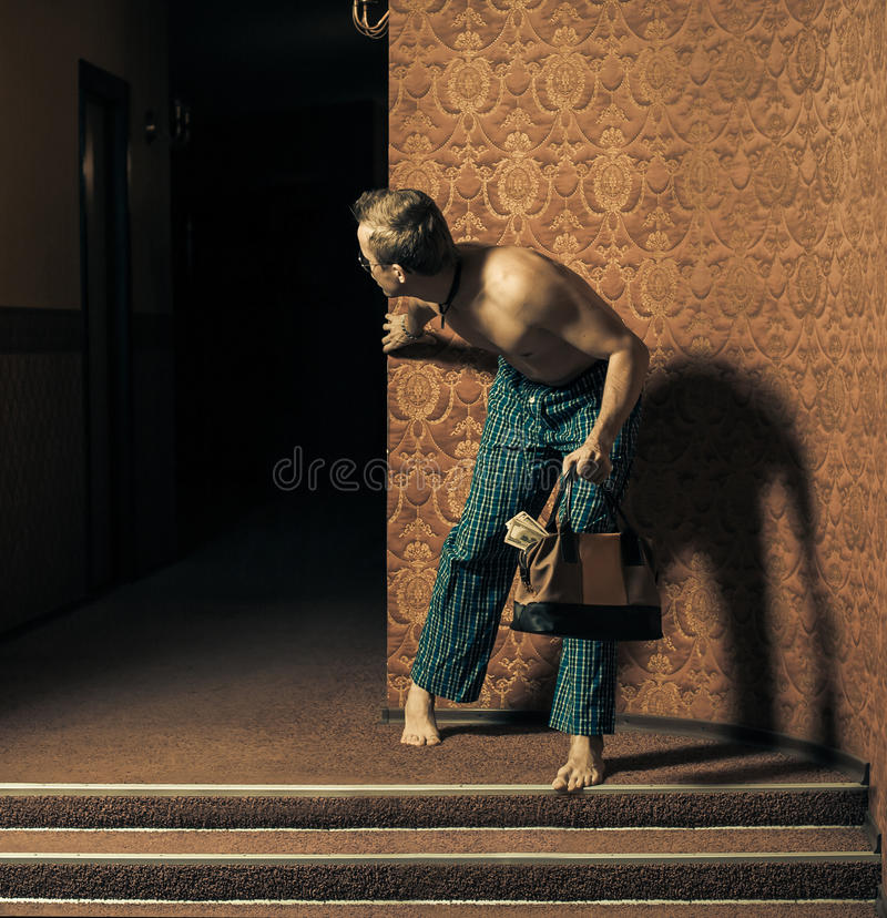 Download Thief stock photo. Image of pants, turning, male, indoor - 26579888