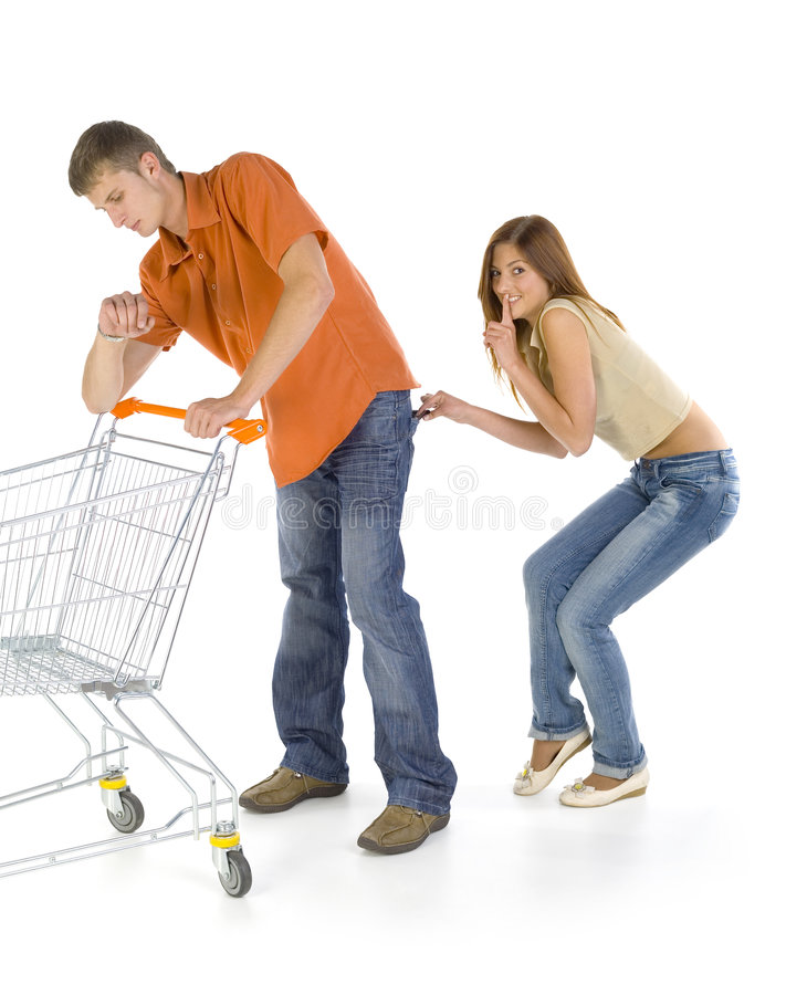 Download Thief stock image. Image of female, sale, buying, market - 2918033