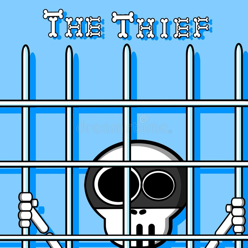 Download The Thief stock illustration. Image of jobs, blue, bones - 6945594
