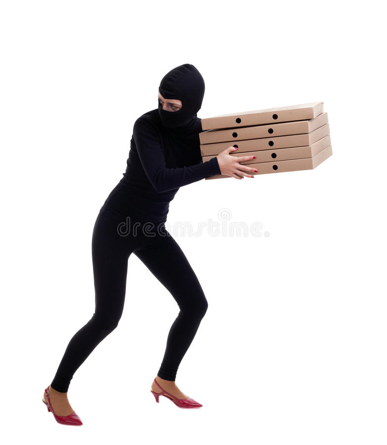 Download Thief In Balaclava With Boxes Stock Images - Image: 14926364