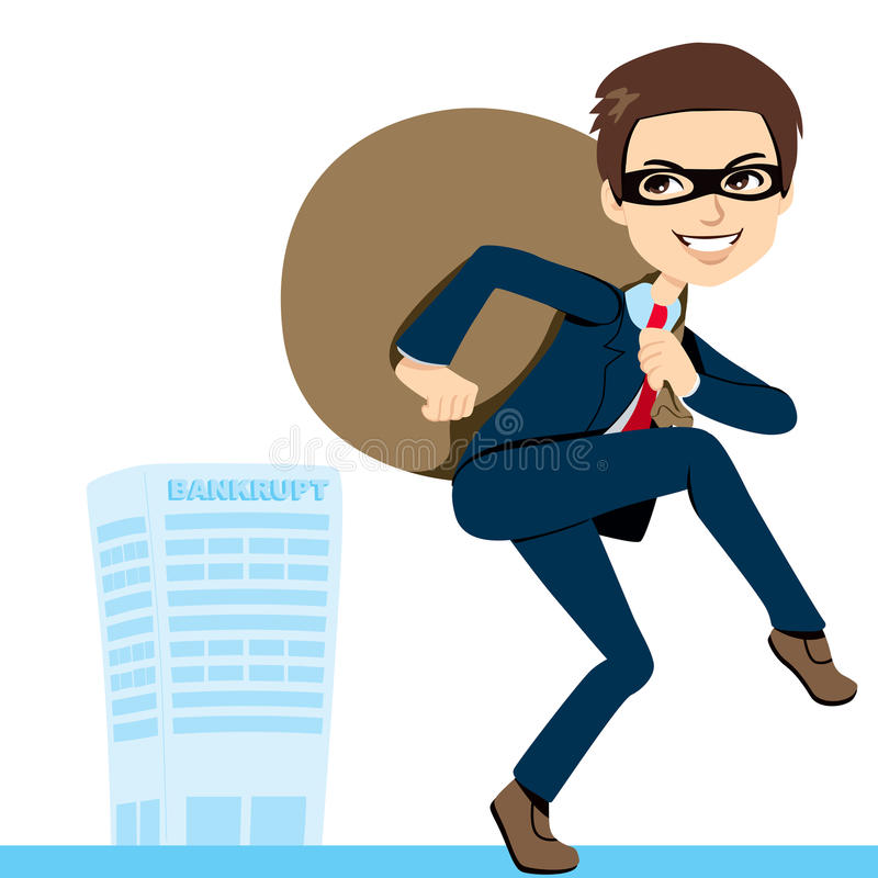 Download Thief Businessman Bankruptcy Stock Vector - Image: 24587684