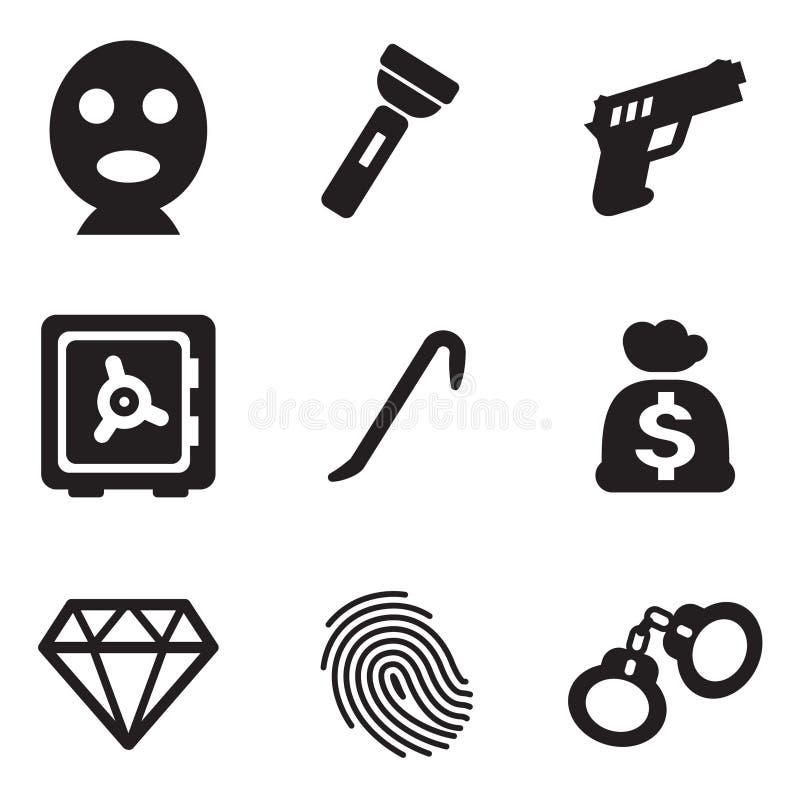 Thief Icons royalty free illustration
