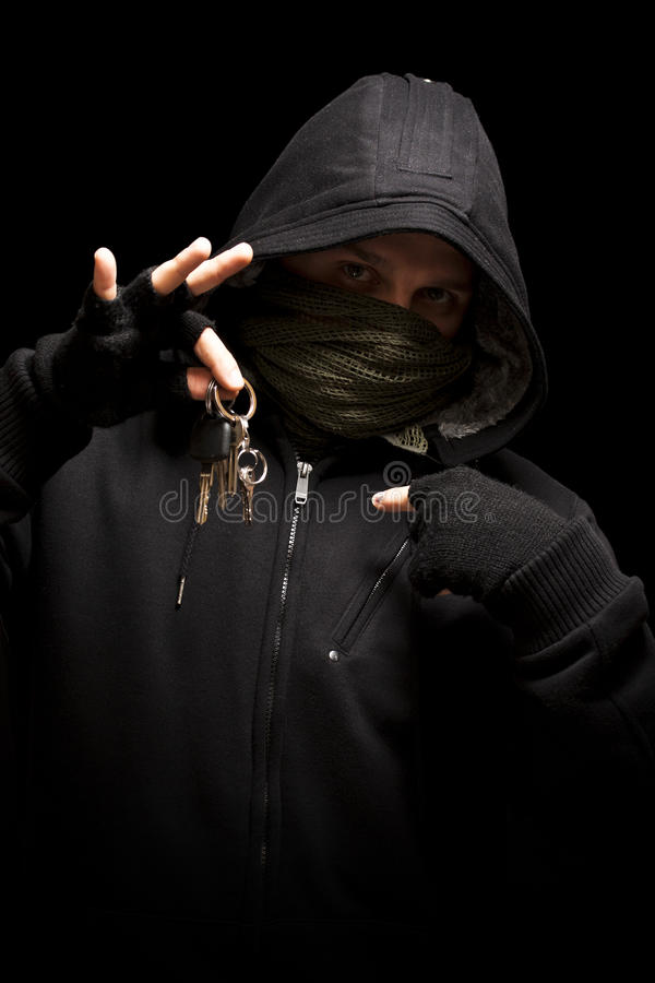 Download Thief with keys stock image. Image of killer, pickpocket - 17472727