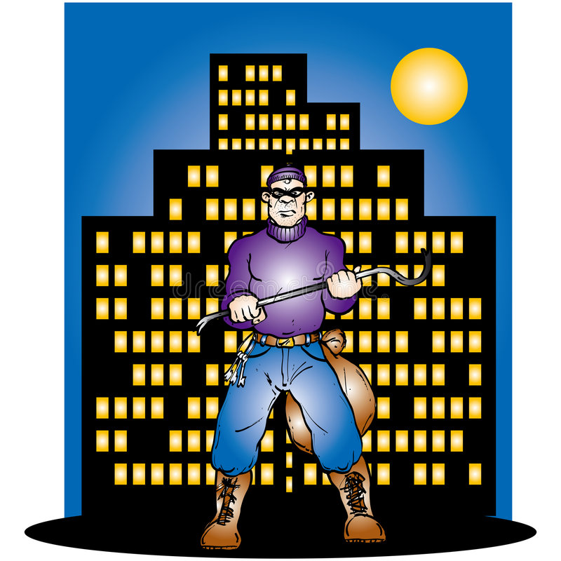 Download Thief ready for Work stock illustration. Illustration of stealing - 170971