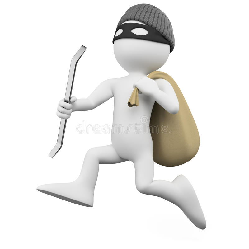 Download Thief Running With A Sack Stock Image - Image: 22261571