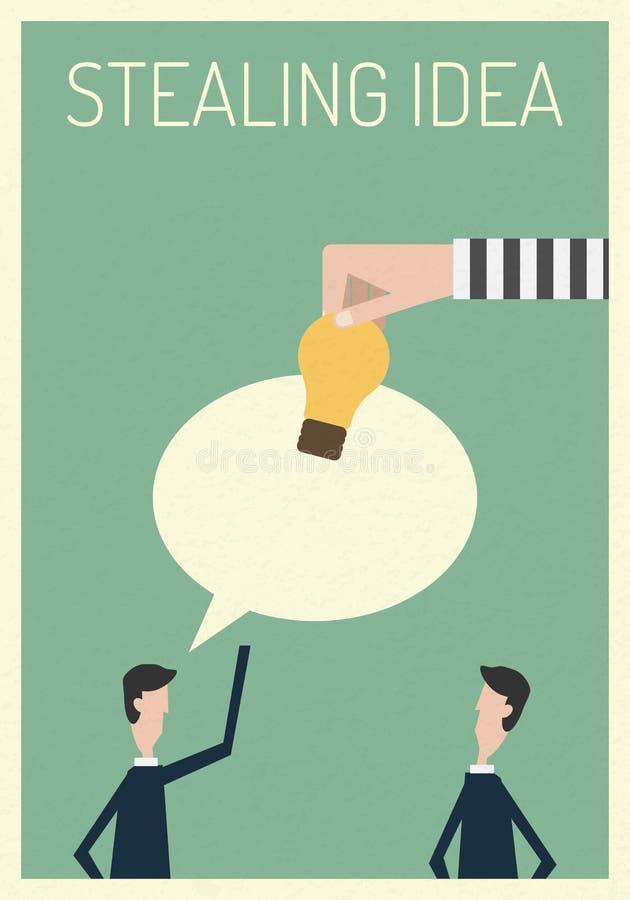Thief Stealing Light Bulb Idea Illustrationmbol Stealing