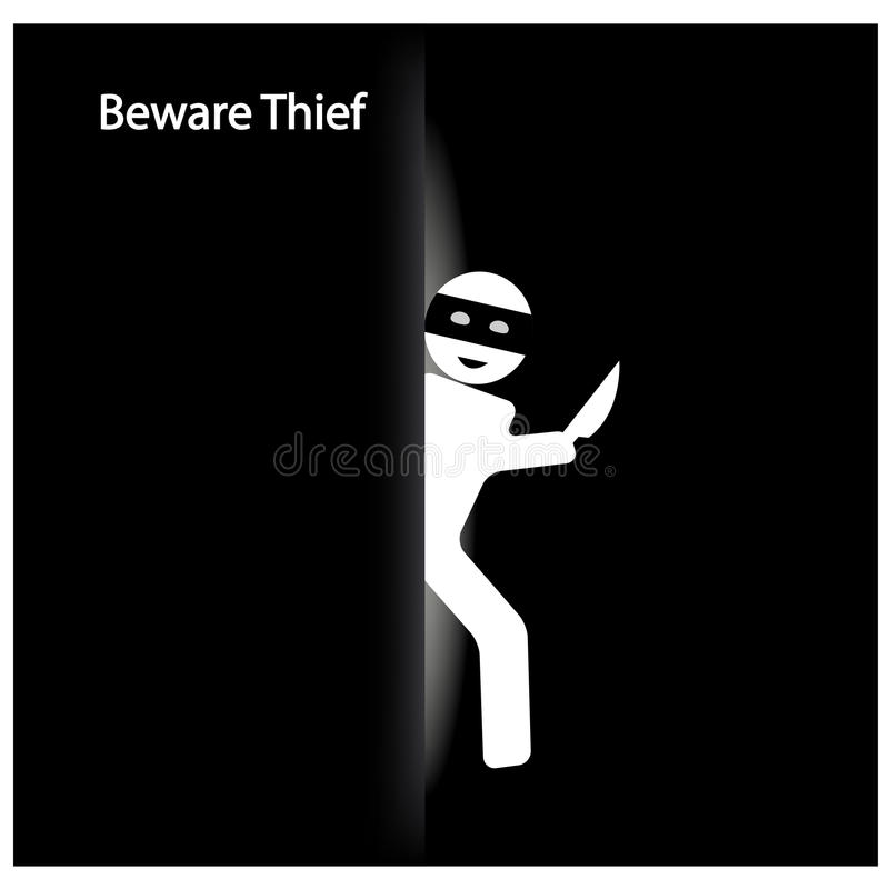 Download Thief symbol stock vector. Image of illustration, label - 33227488