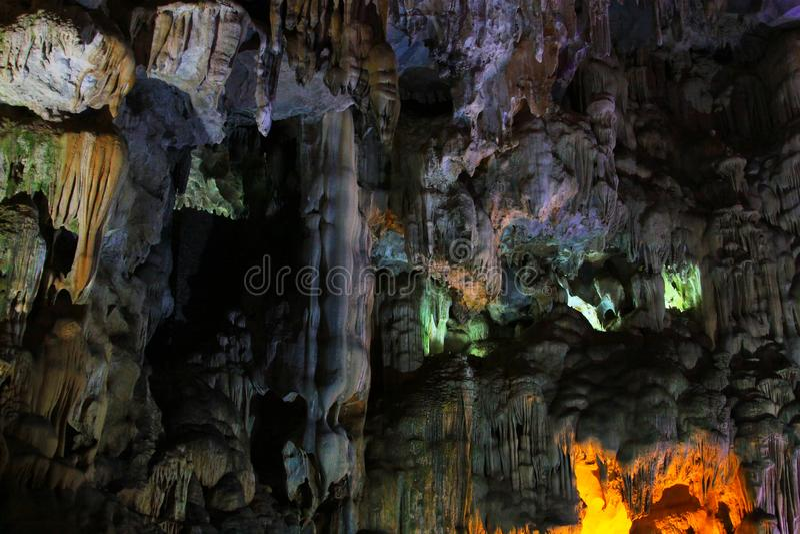 Thien Cung Grotto, Ha Long Bay, Vietnam UNESCO World Heritage stock photo