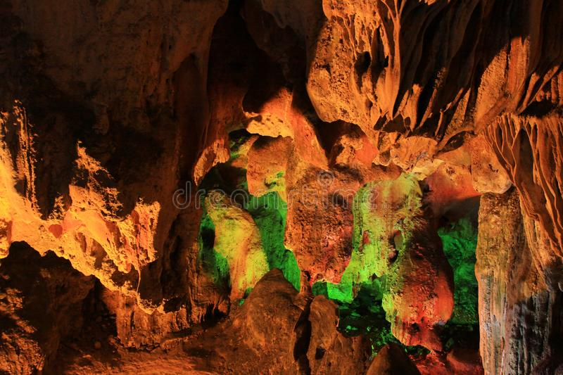 Thien Cung Grotto, Ha Long Bay, Vietnam UNESCO World Heritage royalty free stock images
