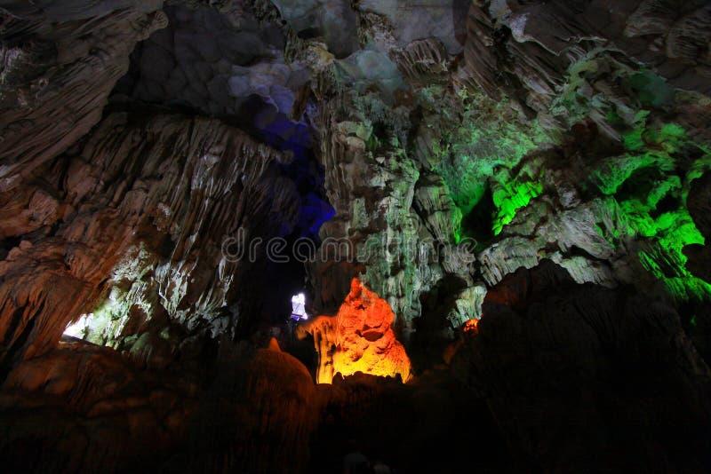 Thien Cung Grotto, Ha Long Bay, Vietnam UNESCO World Heritage royalty free stock photos