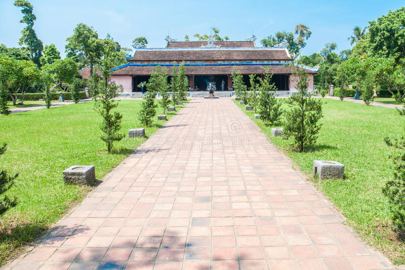 Thien Mu Pagoda in Hue, Vietnam stock photos