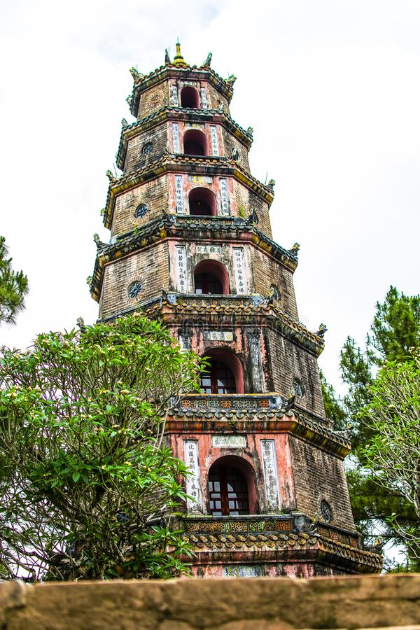 Thien MU Pagode, Farbe, Vietnam lizenzfreie stockfotos
