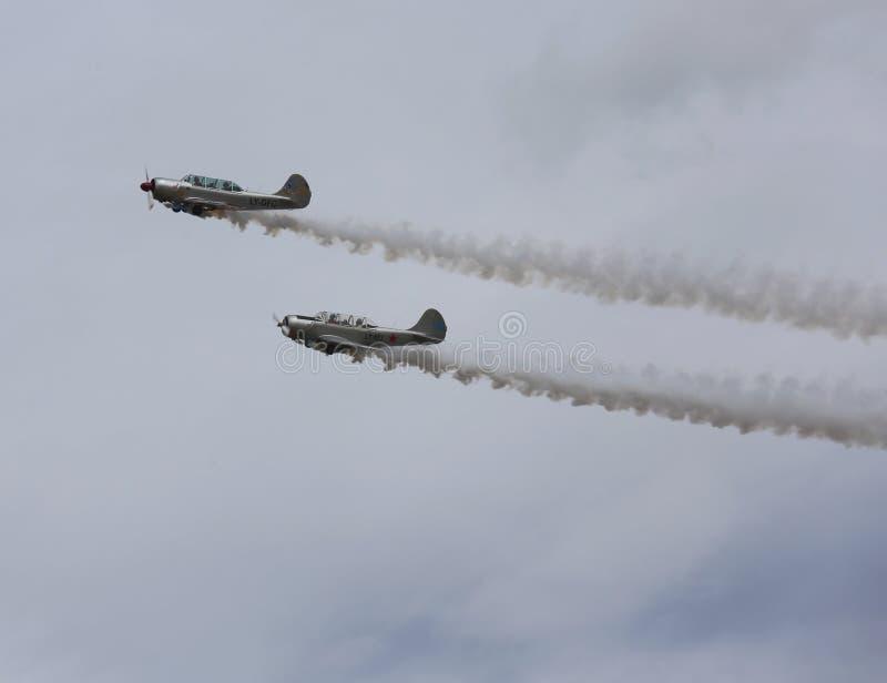 Thiene, Vicenza - Italien 26. Juli 2015: Zwei Flugzeuge stockfotografie