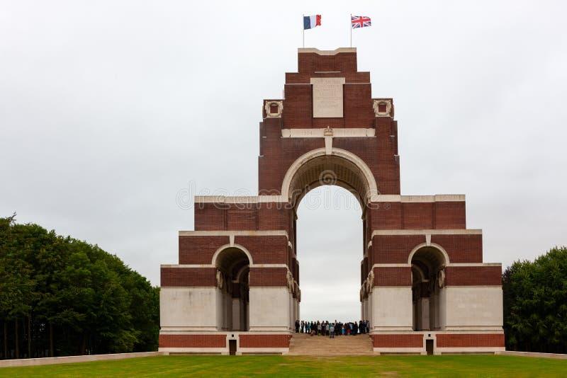 Thiepval pomnik chybianie Somme, Francja zdjęcie stock