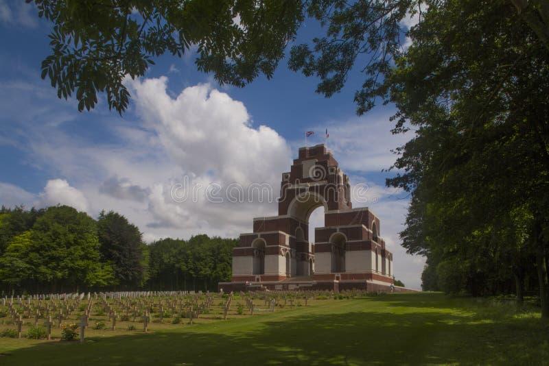 Thiepval pomnik, Somme Francja zdjęcia royalty free