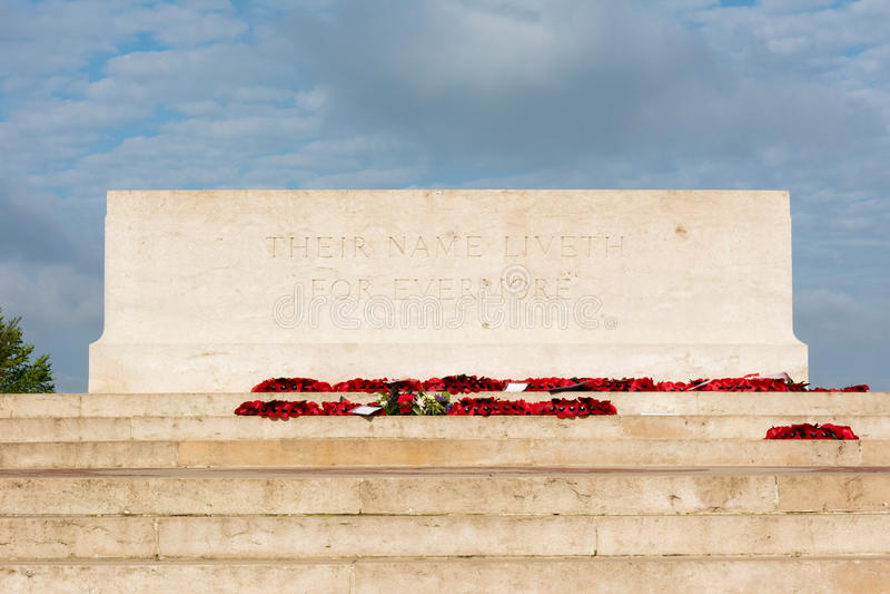 Thiepval Wojenny pomnik obrazy stock