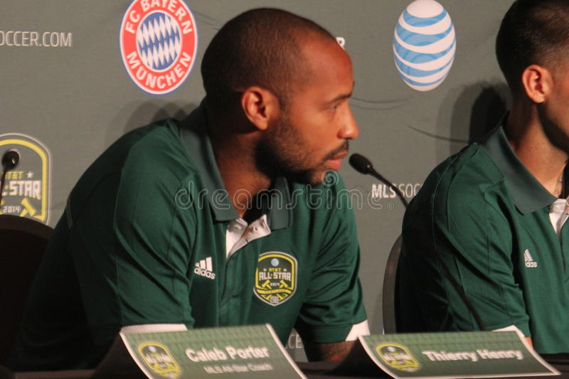 Thierry Henry. At the 2014 All Star game news confrence at Hotel Nine royalty free stock images