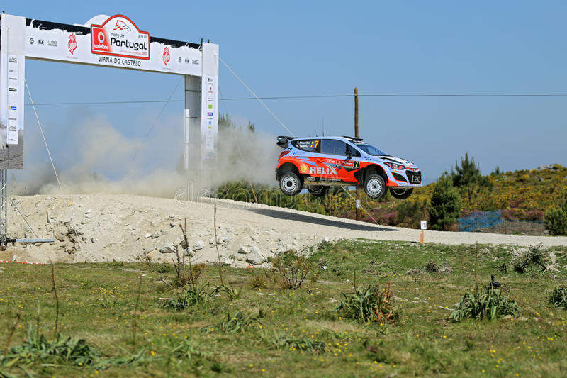 Thierry Neuville of Belgium and Nicolas Gilsoul of Belgium royalty free stock images