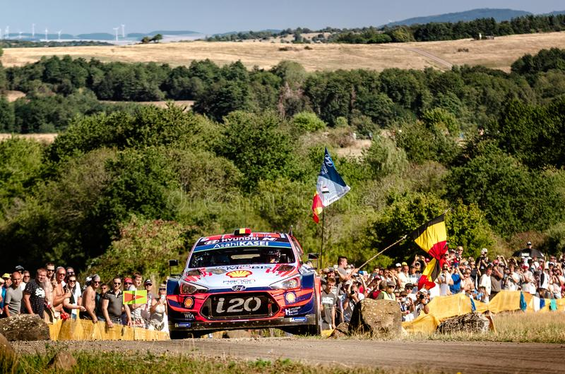 Thierry Neuville and Nicolas Gilsoul at ADAC Rally Germany stock image
