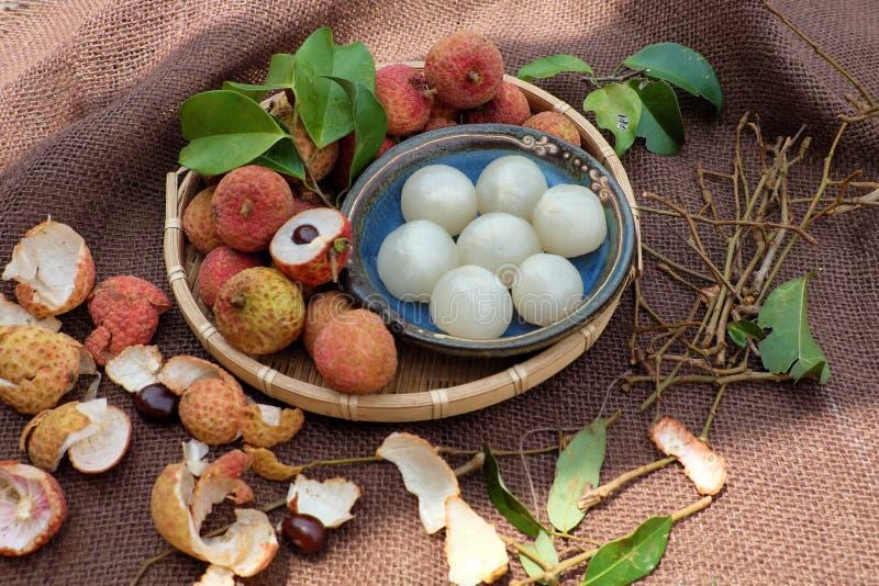 Thieu Βιετνάμ, φρούτα Vai lychee στοκ φωτογραφία