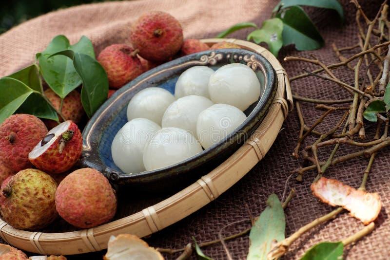 Thieu Βιετνάμ, φρούτα Vai lychee στοκ εικόνες