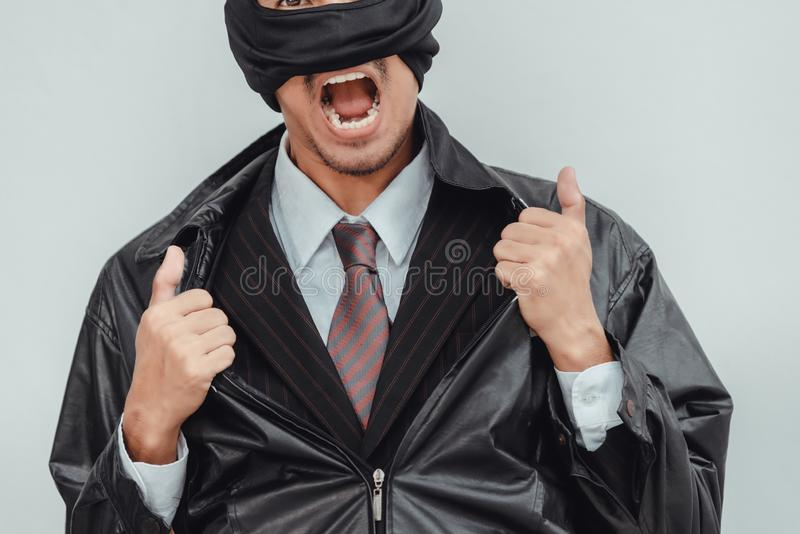Thieves disguised as businessmen stock photo