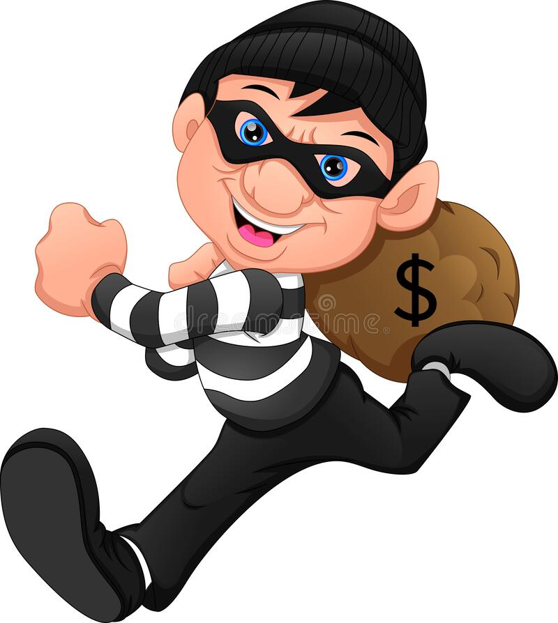 Free Thieves Ran Away With Money Stock Image - 191126221