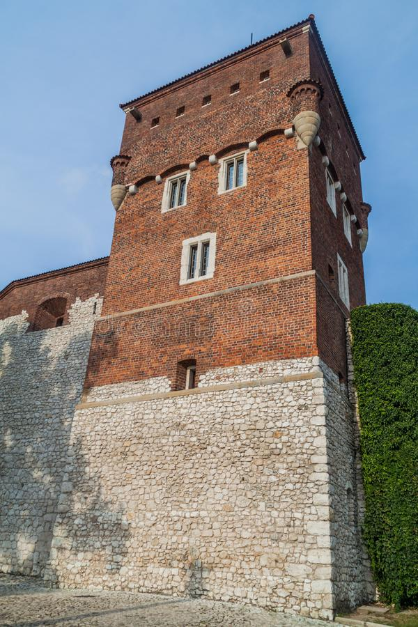 Thieves Tower at Wawel castle in Krakow, Pola stock photo