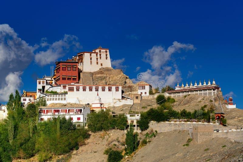 Thiksay修道院,拉达克,查谟和克什米尔,印度 免版税库存照片