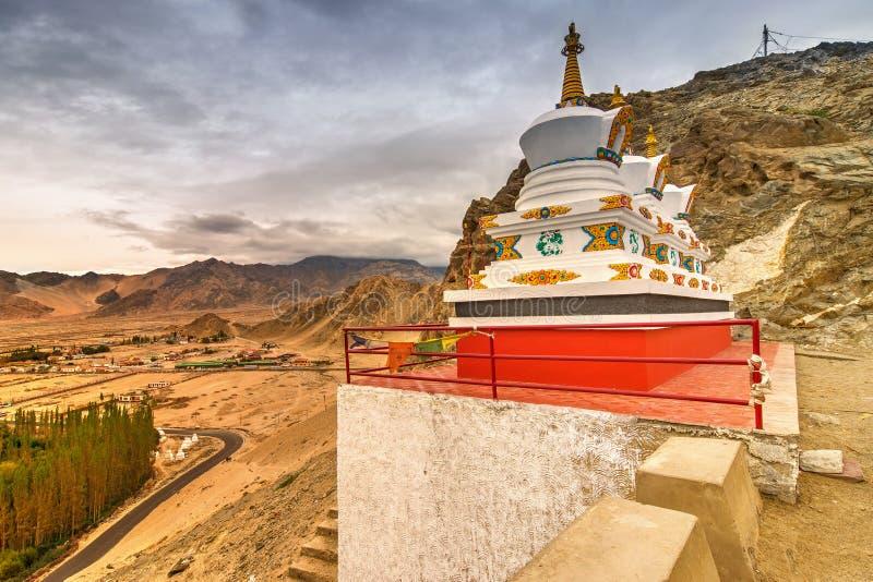 Thiksay修道院, Leh,拉达克,查谟和克什米尔,印度 库存图片