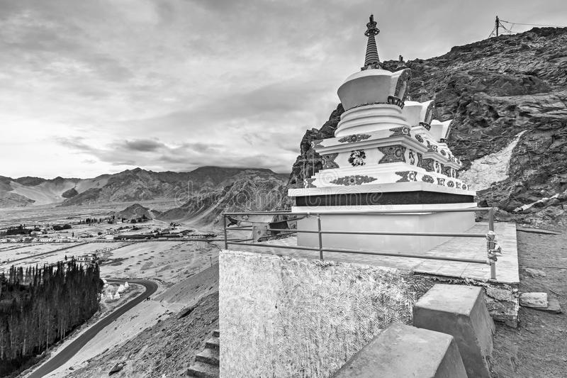 Thiksay修道院, Leh,拉达克,查谟和克什米尔,印度 图库摄影