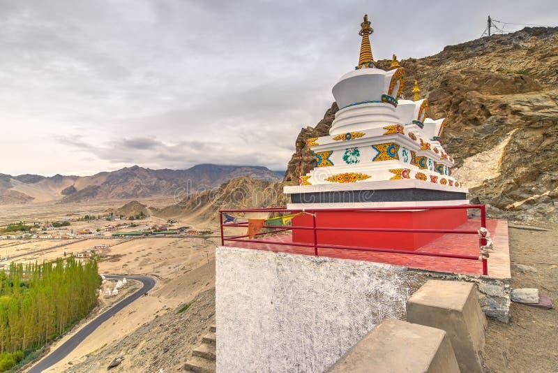 Thiksay修道院, Leh,拉达克,查谟和克什米尔,印度 库存照片