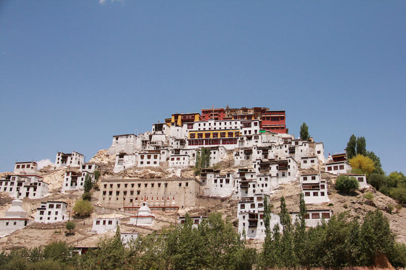 Thiksay Monastery02 royalty free stock images