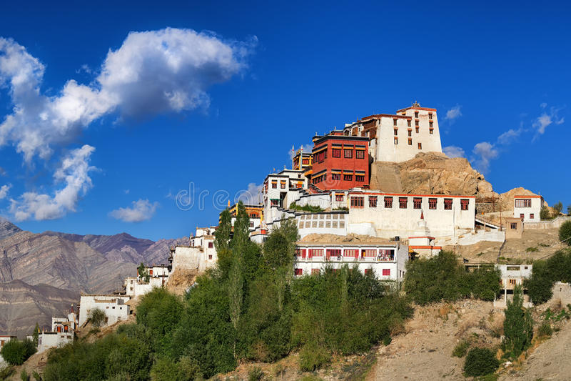 Thiksayklooster, Ladakh, Jammu en Kashmir, India stock afbeelding