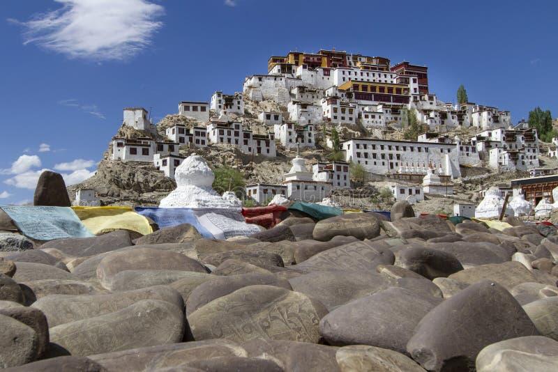 Thiksey Gompa dans Ladakh, Inde photos stock