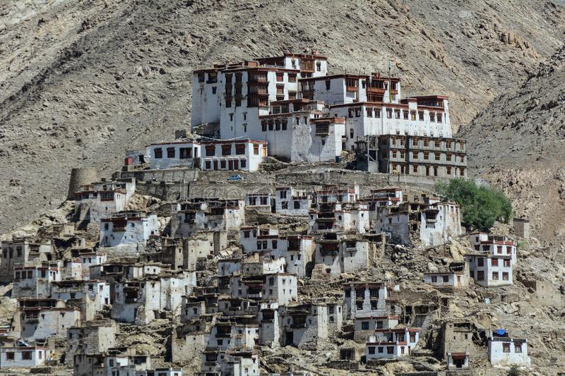 Thiksey Gompa dans Ladakh, Inde photographie stock