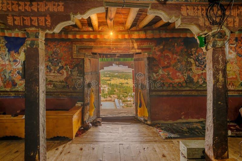 Thiksey-Kloster, Ladakh stockbilder