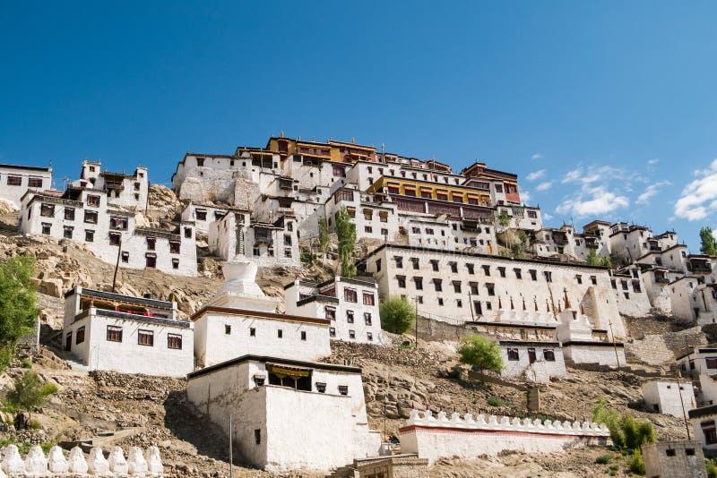 Thiksey-Kloster, Leh Ladakh lizenzfreie stockbilder