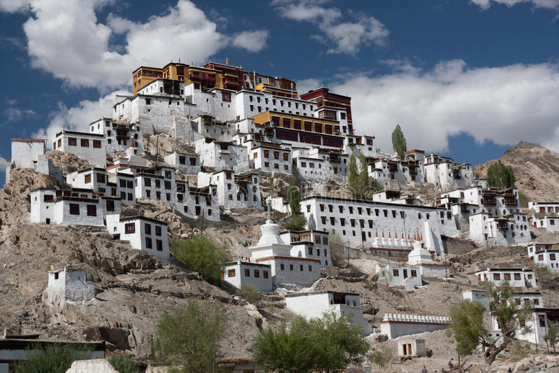 Thiksey monastery II royalty free stock photography