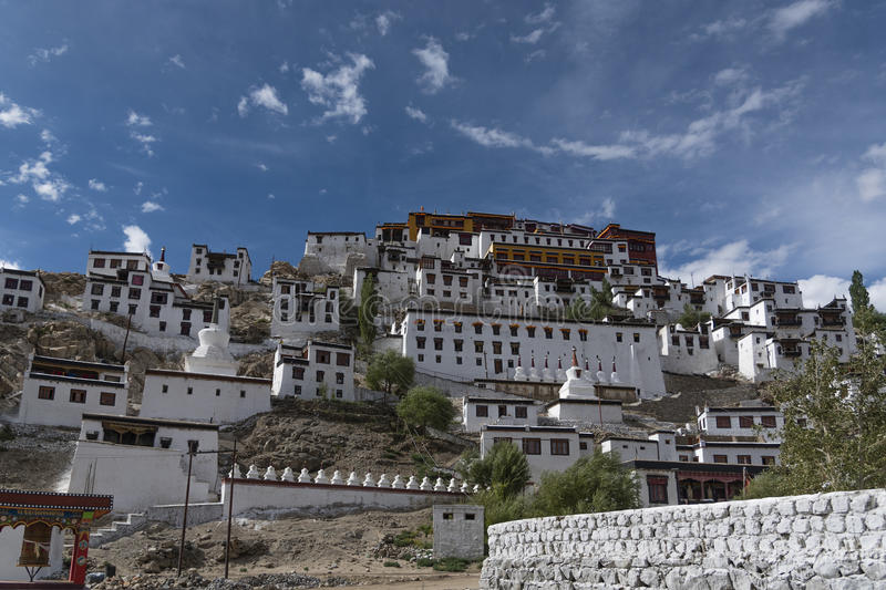 Thikseyklooster in Ladakh, India, Azië stock afbeelding