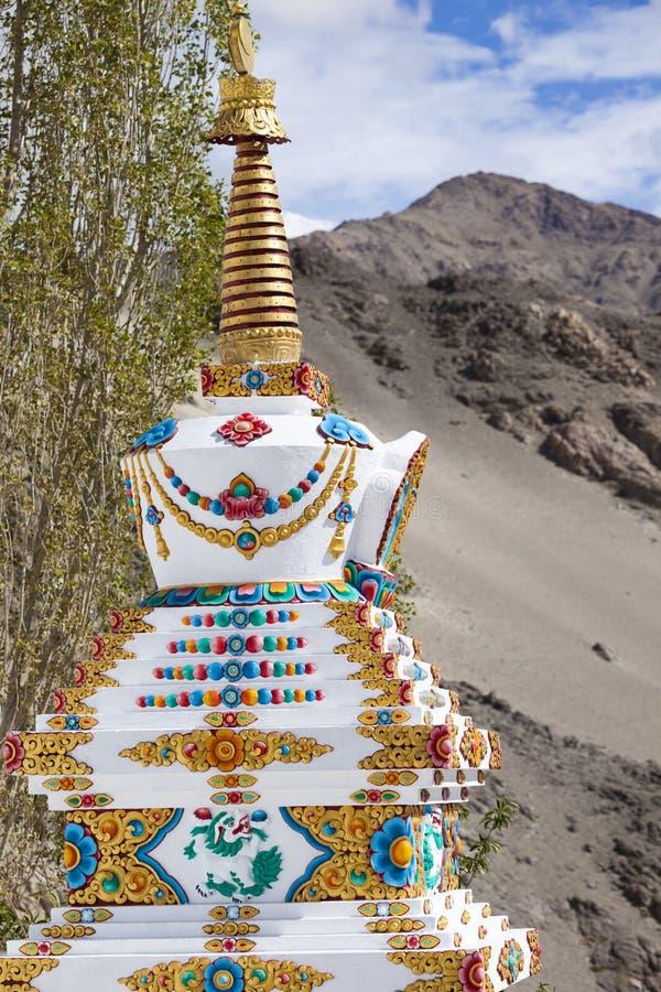Thikseyklooster, Leh Ladakh India stock afbeeldingen
