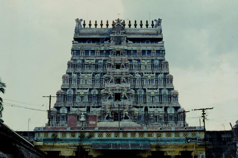 Thillai Nataraja świątynia, Chidambaram, Tamilnadu, India obraz stock