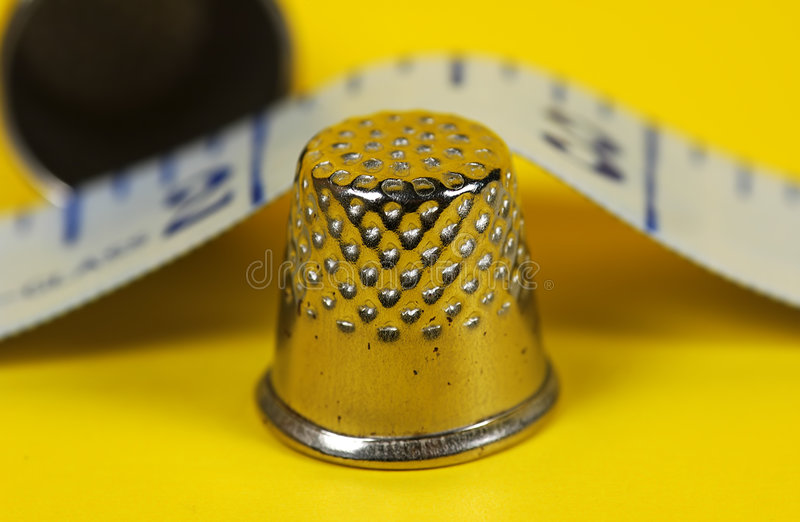 Download Thimble stock photo. Image of thumb, ruler, threader, knit - 15100