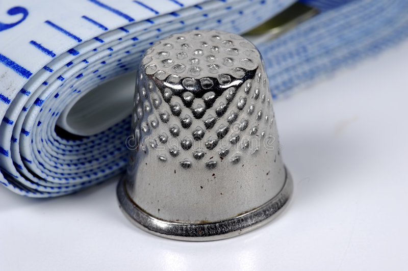 Download Thimble 2 stock photo. Image of thread, ruler, thimble, repair - 15102