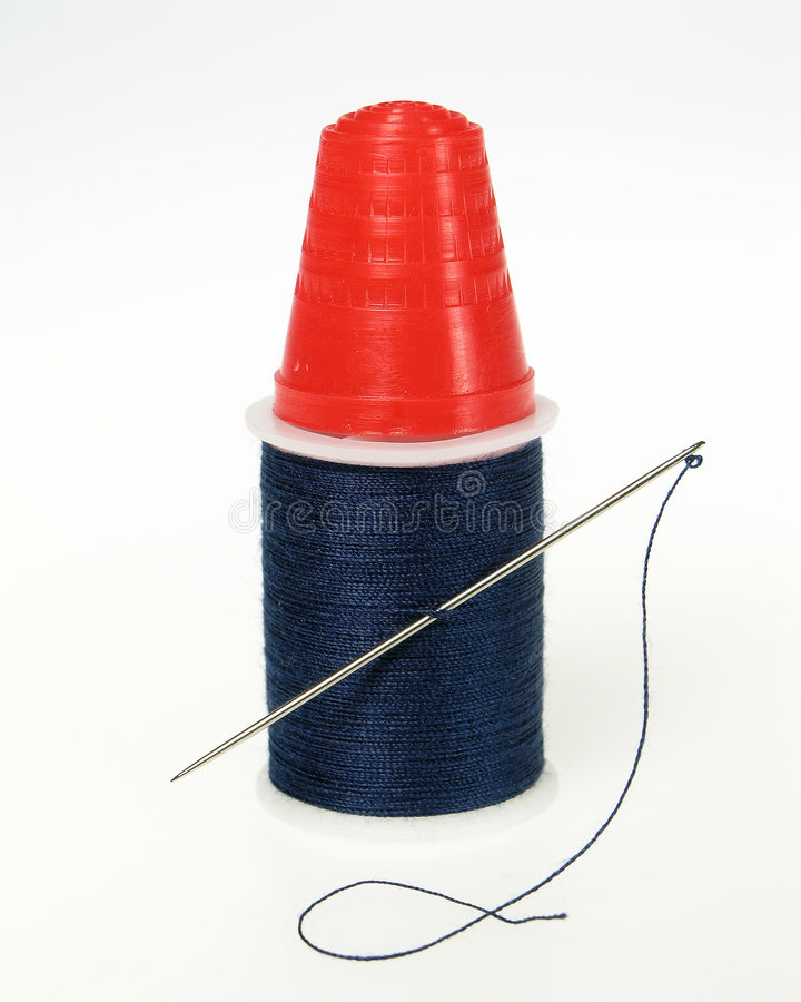 Download Thimble Thread stock photo. Image of thread, polyester - 382580