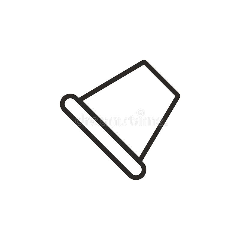 Thimble vector icon. Element of design tool for mobile concept and web apps vector. Thin line icon for website design and royalty free illustration