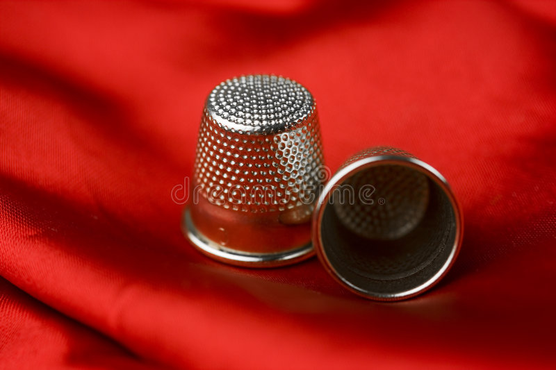 Thimbles red royalty free stock images