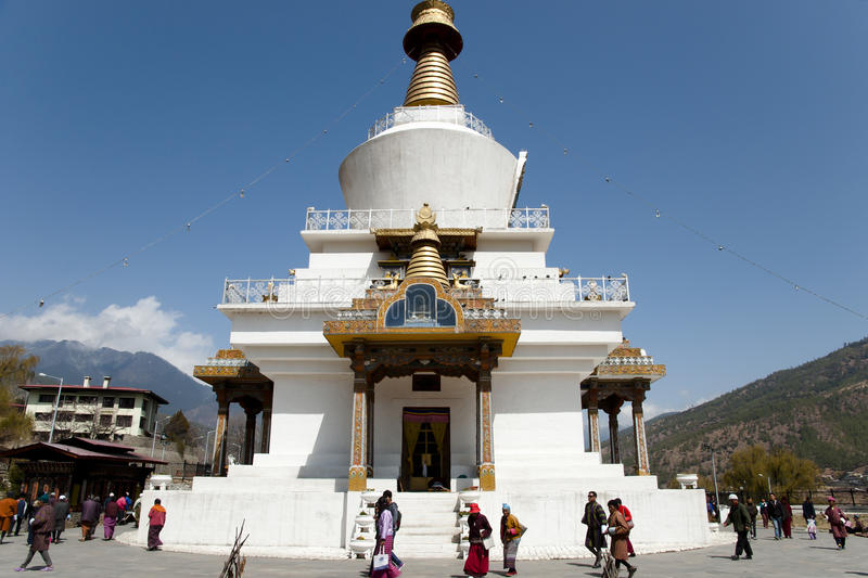 THIMPHOU, BHUTAN - 14 mars 2012 : photos stock