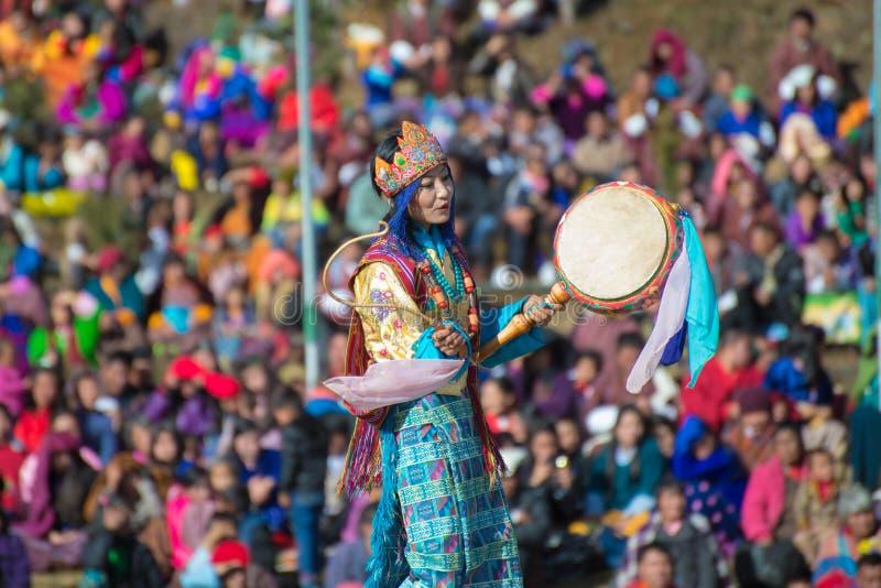 THIMPHU - IL BHUTAN, IL 13 DICEMBRE: Festival 2014 di Dochula Druk Wangyel fotografie stock